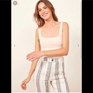 Reformation ribbed stormi crop size L